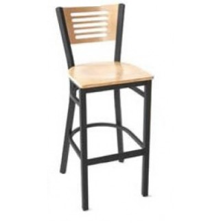 5 Line Wood Back Bar Stool SL2150-1-5