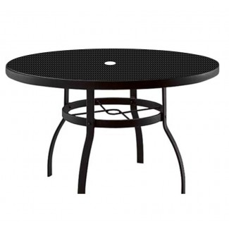 "54"" Round Deluxe Umbrella Table with Patterned Aluminum Top 826154"