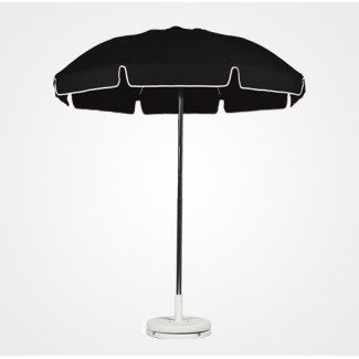 6-5 Foot Fiberglass Frame Aluminum Umbrella With Valance - 6 Panel