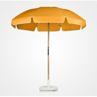 6-5 Foot Fiberglass Frame-Ash Wood Umbrella With Valance 6 Panel