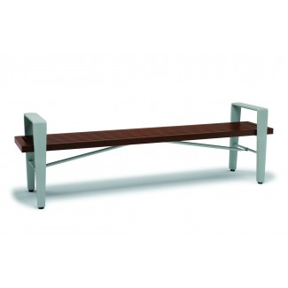 6' Faux Wood Backless Bench with Arms