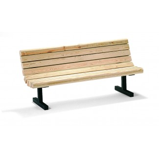 6' In-Ground Mount Commercial Bench - Douglas Fir M123-6