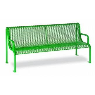 6' Plastisol Bench with Arms