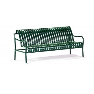 6' Straight-Back Commercial Steel Bench - Powder Coated M729-6