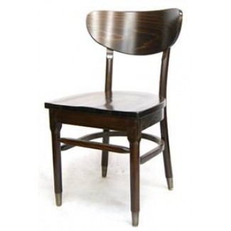 Beech Wood Side Chair 645W with Saddle Style Wood Seat