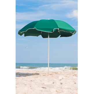 7-5 Foot Fiberglass Frame Ash Wood Umbrella With Vent - 8 Panel