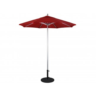 AAT758 Rodeo 7.5 foot octagon commercial aluminum restaurant umbrella