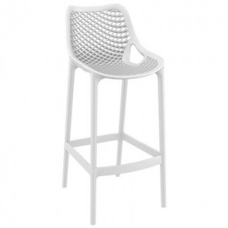 Air Stacking Resin Barstool - White