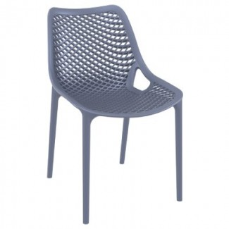 Air Stacking Resin Side Chair - Dark Grey
