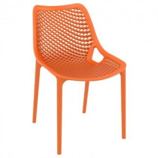 Air Stacking Resin Side Chair - Orange