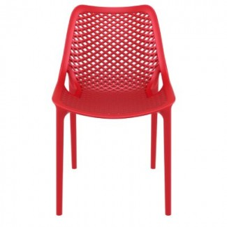 Air Stacking Resin Side Chair - Red