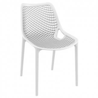 Air Stacking Resin Side Chair - White
