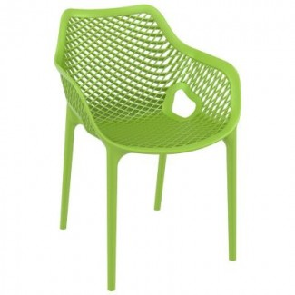 Air XL Stacking Resin Arm Chair - Green