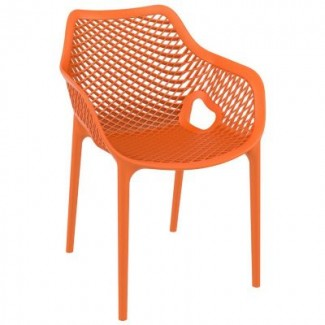 Air XL Stacking Resin Arm Chair - Orange