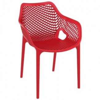 Air XL Stacking Resin Arm Chair - Red