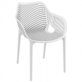 Air XL Stacking Resin Arm Chair - White