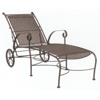Restaurant wrought iron alexandria for Black mesh chaise lounge