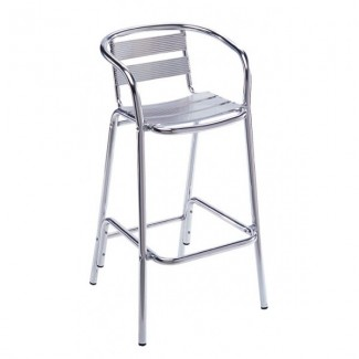 Aluminum Bar Stool with Aluminum Seat and Back