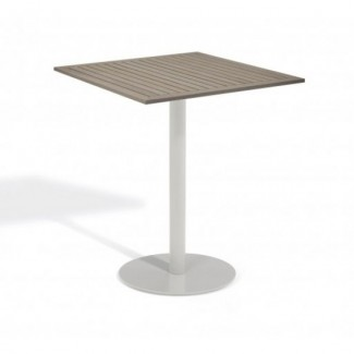 Aluminum And Wood Composite Restaurant Bar Tables Carrillo 36