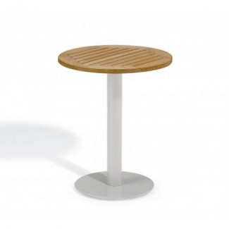 "Travira 24"" Round Bistro Table - Tekwood Natural"