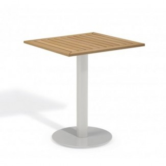 "Travira 24"" Square Bistro Table - Tekwood Natural"