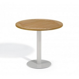 "Travira 32"" Round Bistro Table - Tekwood Natural"