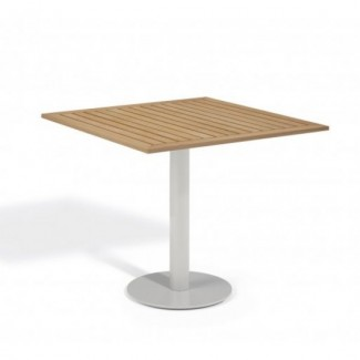 "Travira 32"" Square Bistro Table - Tekwood Natural"