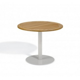 "Travira 36"" Round Bistro Table - Tekwood Natural"