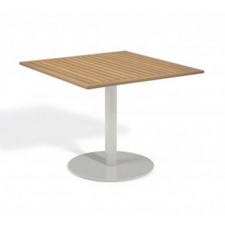 "Travira 36"" Square Bistro Table - Tekwood Natural"