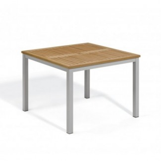 "Travira 39"" Square Table - Tekwood Natural"