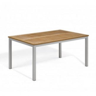 "Travira 63"" x 40"" Rectangular Table - Tekwood Natural"