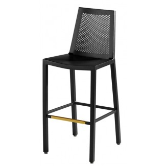 Aluminum Bar Stool with Waffle Back