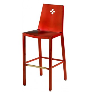 Aluminum Diamond Back Bar Stool