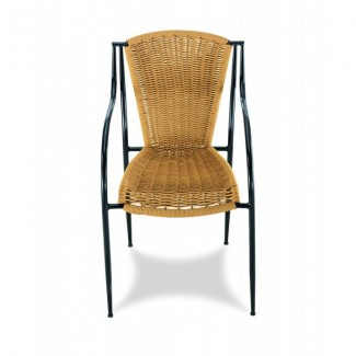 Harbor Stacking Arm Chair with Woven Seat and Back