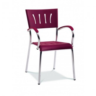 Lauderdale Stacking Arm Chair with Polypropylene Seat and Back