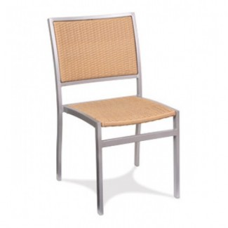 Bayhead Aluminum Stacking Side Chair with Woven Seat and Back