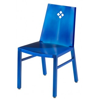 Aluminum Side Chair with Diamond Back