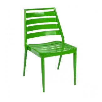 Aluminum Slat Stacking Side Chair