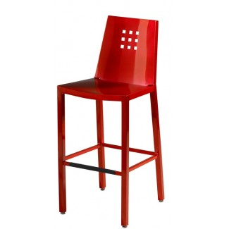 Aluminum Three by Three Bar Stool
