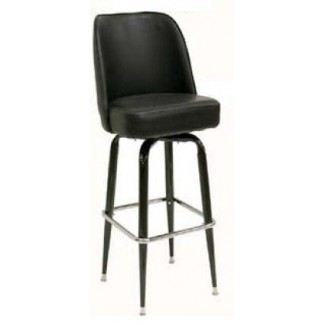 American Made Black Bucket Bar Stool with Metal Frame SL3133-BLK