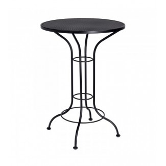 "Contract Mesh 30"" Round Bar Height Bistro Table"