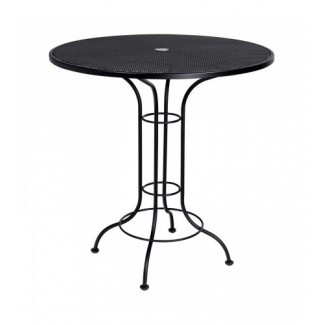 "Contract Mesh 42"" Round Bar Height Umbrella Table"
