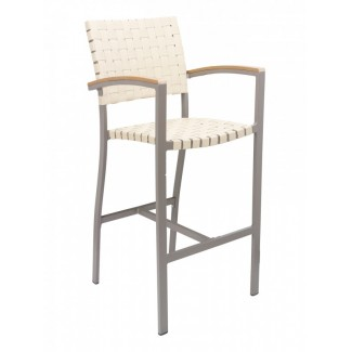 BAL-5800A Woven Aluminum Modern Basketweave Restaurant Commercial Bar Stool