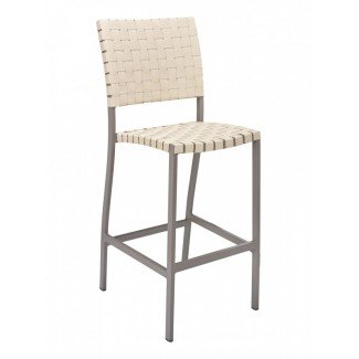 BAL-5800S Woven Aluminum Modern Basketweave Restaurant Bar Stool