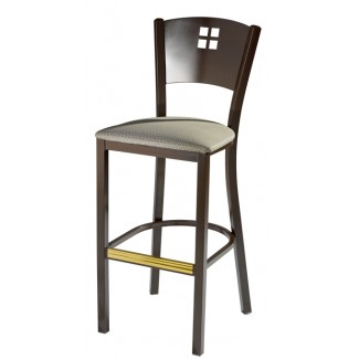Bar Stool with Upholstered Seat and Metal Back 948