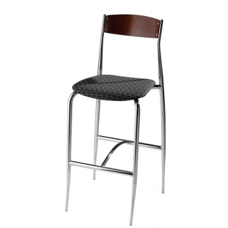 Bar Stool with Upholstered Seat with Wood Back 189UPS