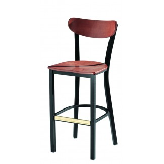 Bar Stool with Wood Seat 921-30