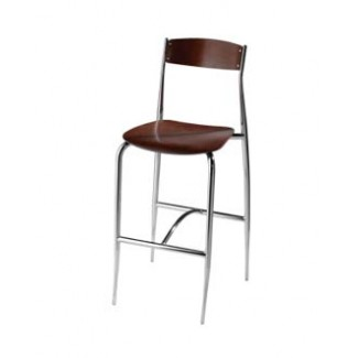 Bar Stool with Wood Seat and Back 189