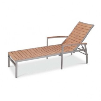 Bayhead Sun Lounger with Arms - Synthetic Teak