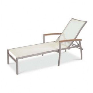 Bayhead Woven Sun Lounger with Arms - Mesh